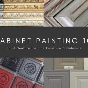 Salvaged Decor Cabinet Painting 101 + Glazing with Paint Couture