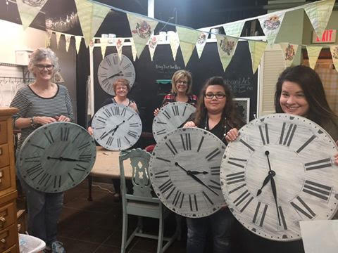 Farmhouse Clock workshop class