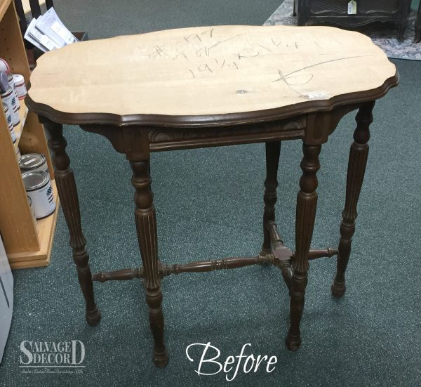 Repairing a damaged top with a textured finish using a decorative art roller and embossing medium.