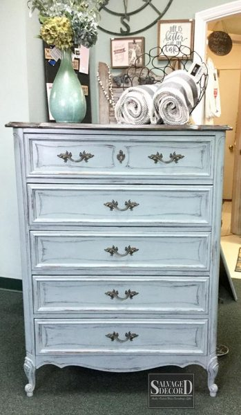 French Provincial dresser makeover using Skeleton Key DIY Paint from Debbie's Design Diary