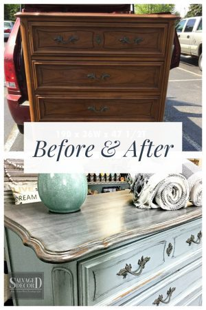 Before & After - French Provincial Skeleton Key Dresser