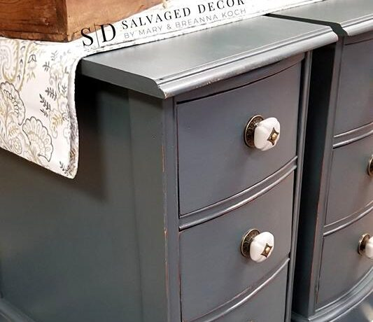 Paint Couture Shale Stone Painted Nightstand